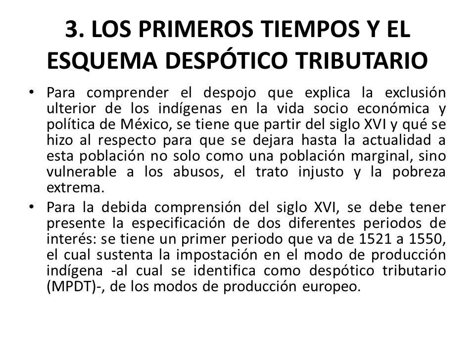3. LOS PRIMEROS TIEMPOS Y EL ESQUEMA DESPÓTICO TRIBUTARIO