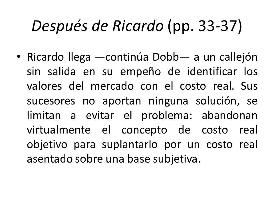 Después de Ricardo (pp. 33-37)