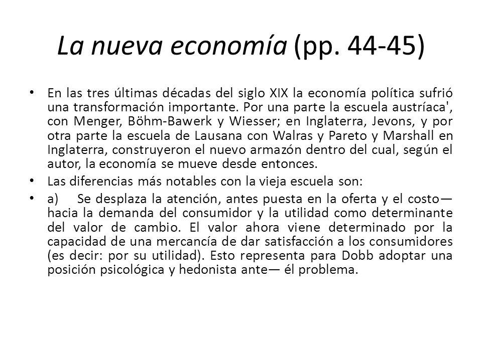 La nueva economía (pp. 44-45)
