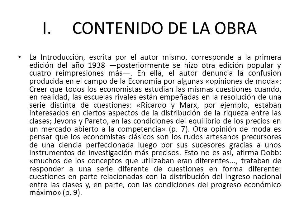 I. CONTENIDO DE LA OBRA