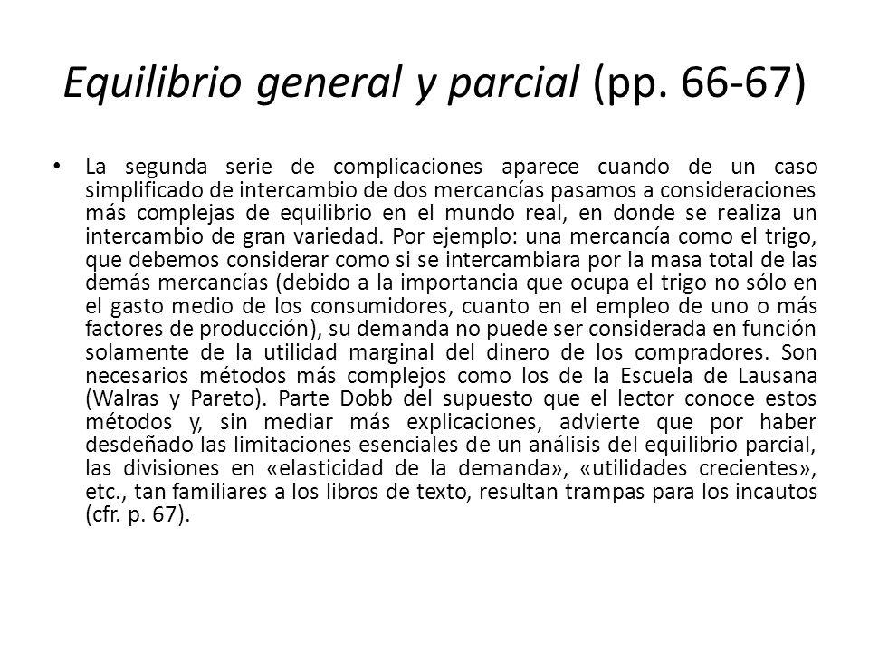 Equilibrio general y parcial (pp. 66-67)