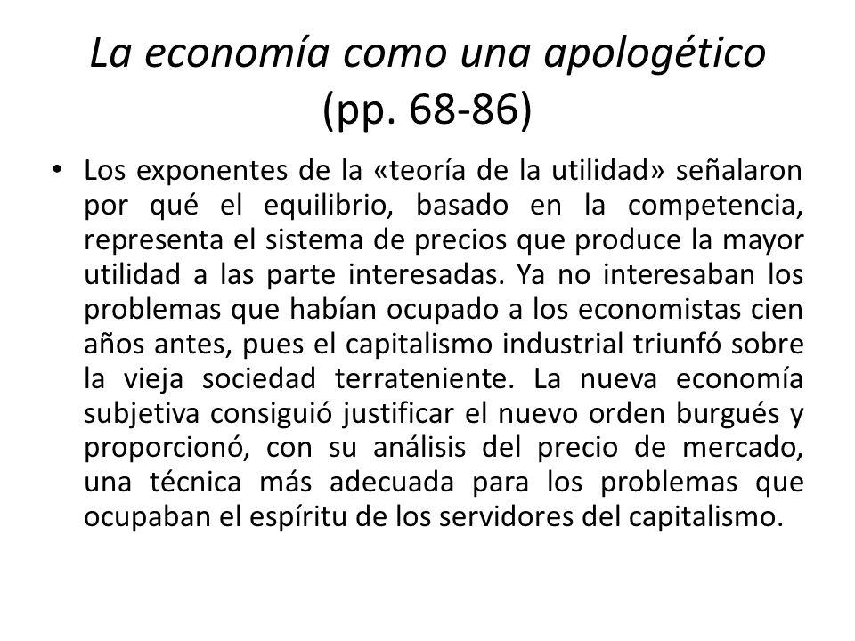 La economía como una apologético (pp. 68-86)