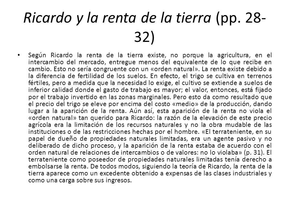 Ricardo y la renta de la tierra (pp. 28-32)
