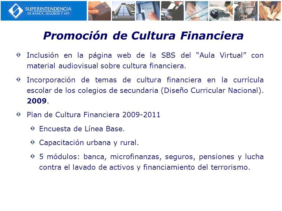 Promoción de Cultura Financiera