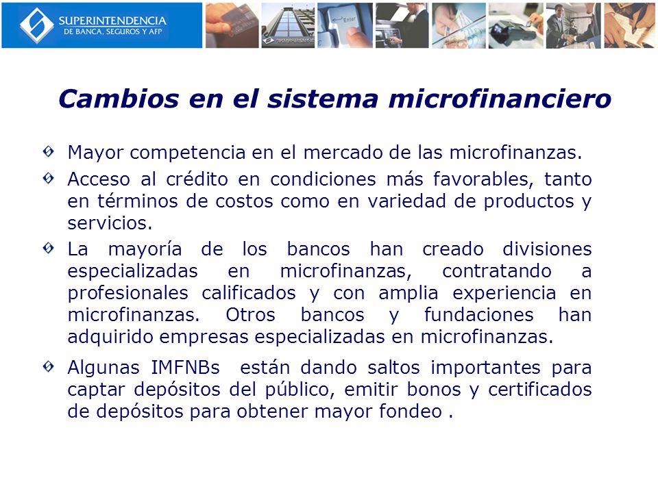 Cambios en el sistema microfinanciero