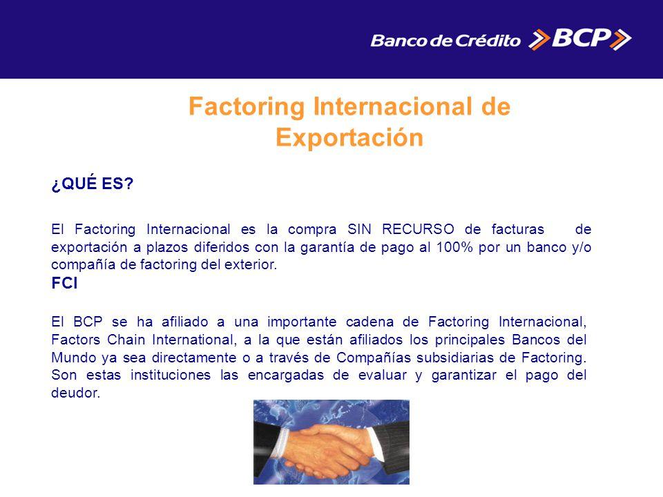 Factoring Internacional de Exportación
