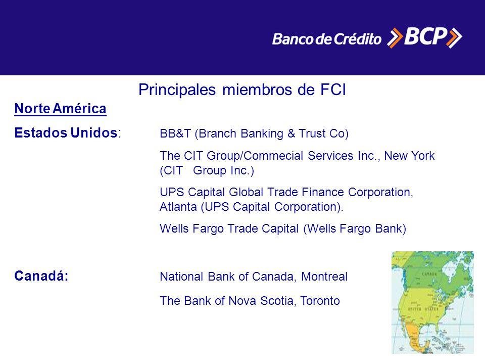 Principales miembros de FCI