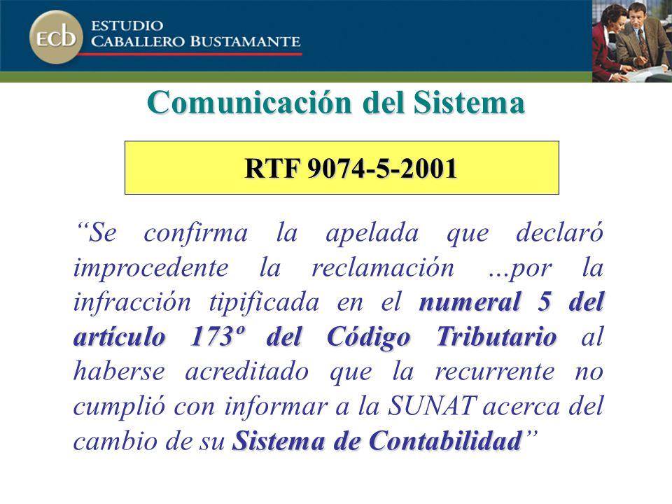 Comunicación del Sistema