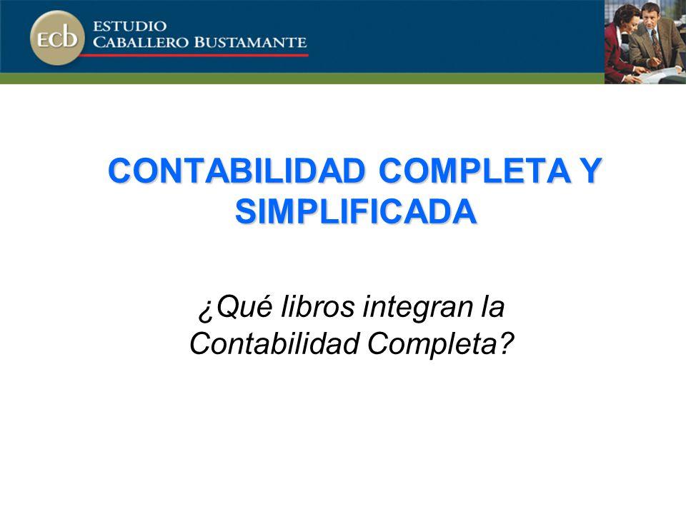 CONTABILIDAD COMPLETA Y SIMPLIFICADA