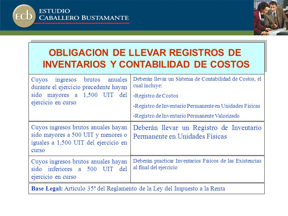 OBLIGACION DE LLEVAR REGISTROS DE INVENTARIOS Y CONTABILIDAD DE COSTOS