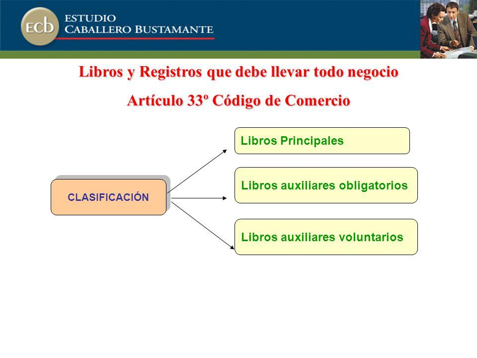 Libros y Registros que debe llevar todo negocio