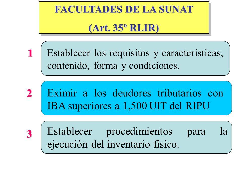 Establecer procedimientos para la ejecución del inventario físico. 3