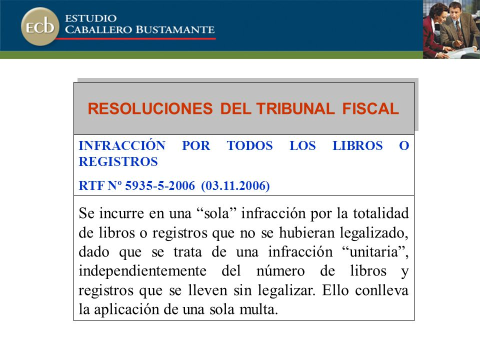 RESOLUCIONES DEL TRIBUNAL FISCAL