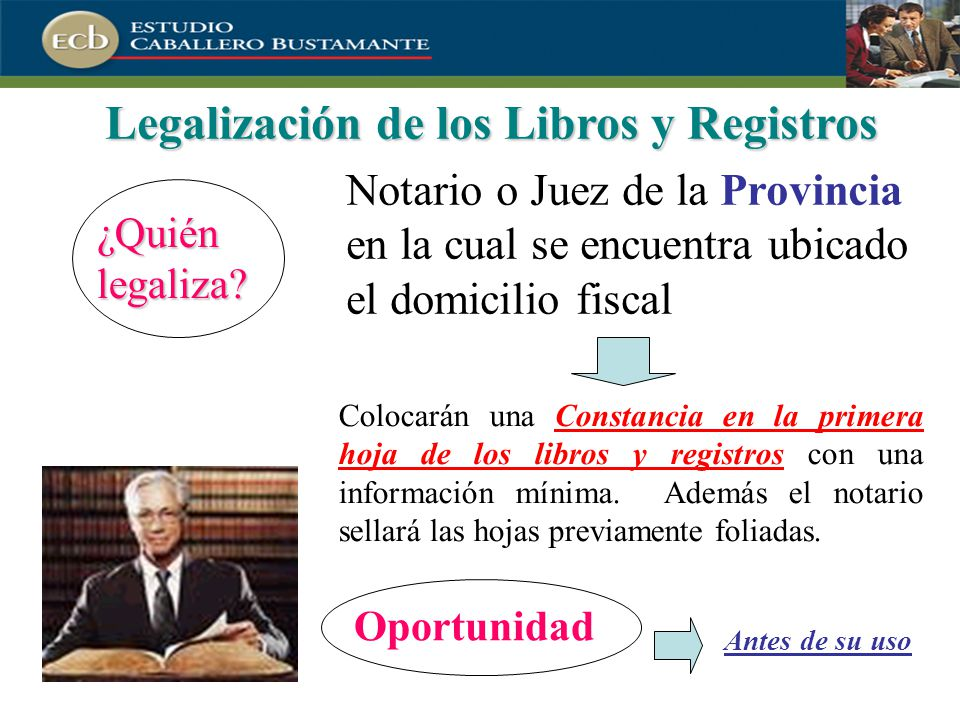 Legalización de los Libros y Registros
