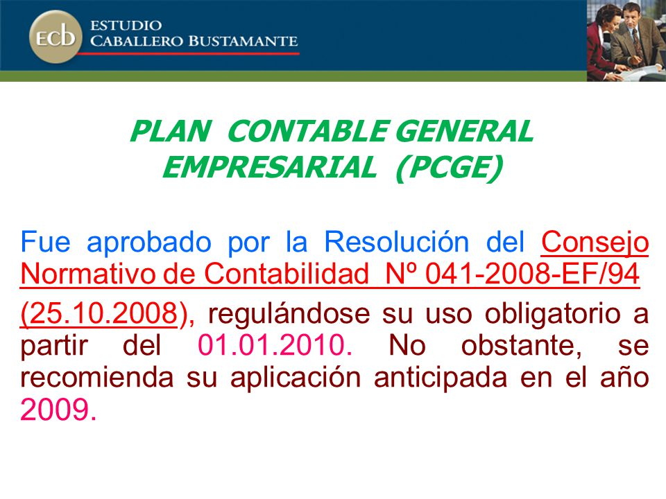 PLAN CONTABLE GENERAL EMPRESARIAL (PCGE)