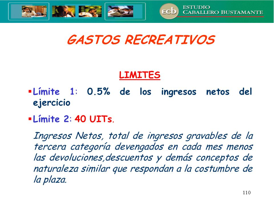 GASTOS RECREATIVOS LIMITES