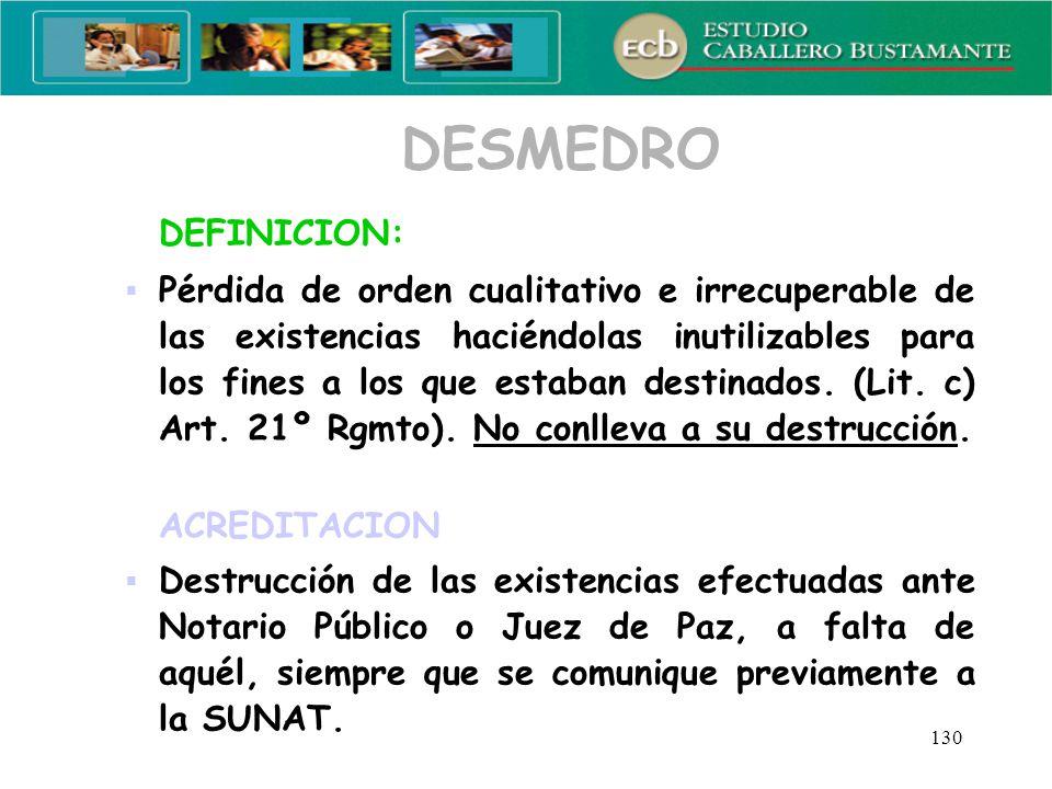 DESMEDRO DEFINICION: