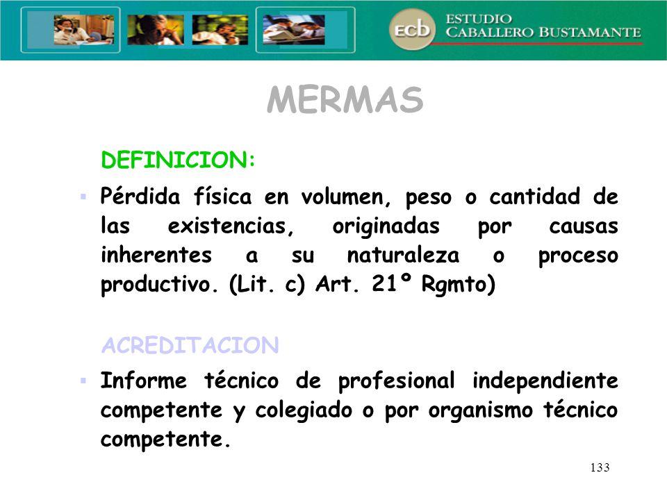 MERMAS DEFINICION: