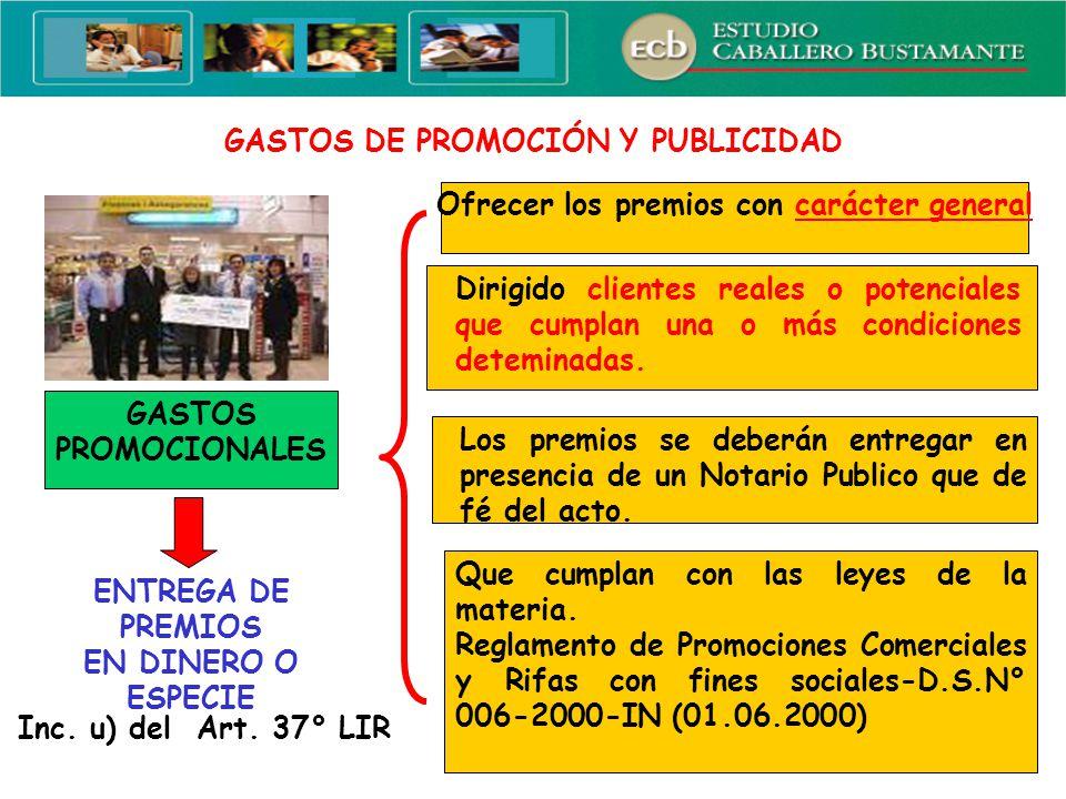 GASTOS DE PROMOCIÓN Y PUBLICIDAD