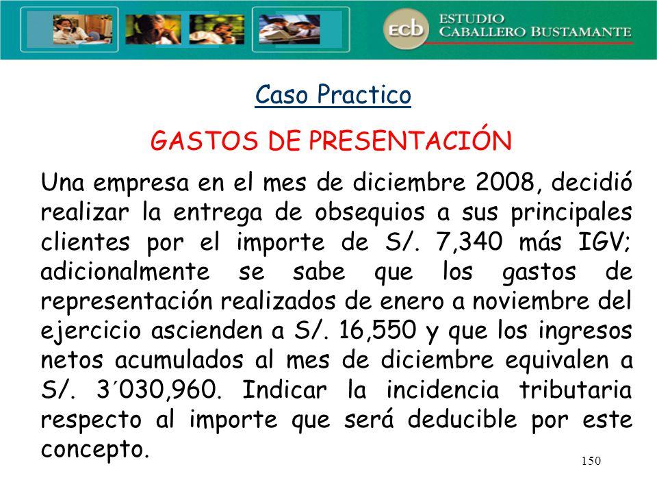 GASTOS DE PRESENTACIÓN