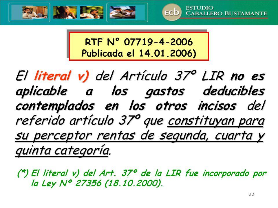 RTF N° 07719-4-2006 Publicada el 14.01.2006)