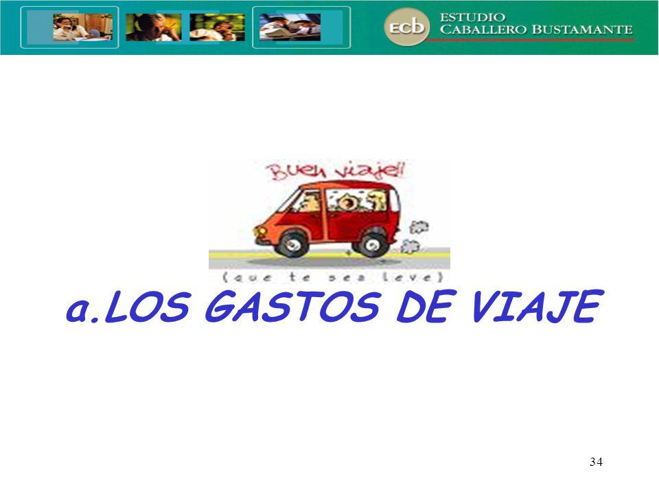 a.LOS GASTOS DE VIAJE
