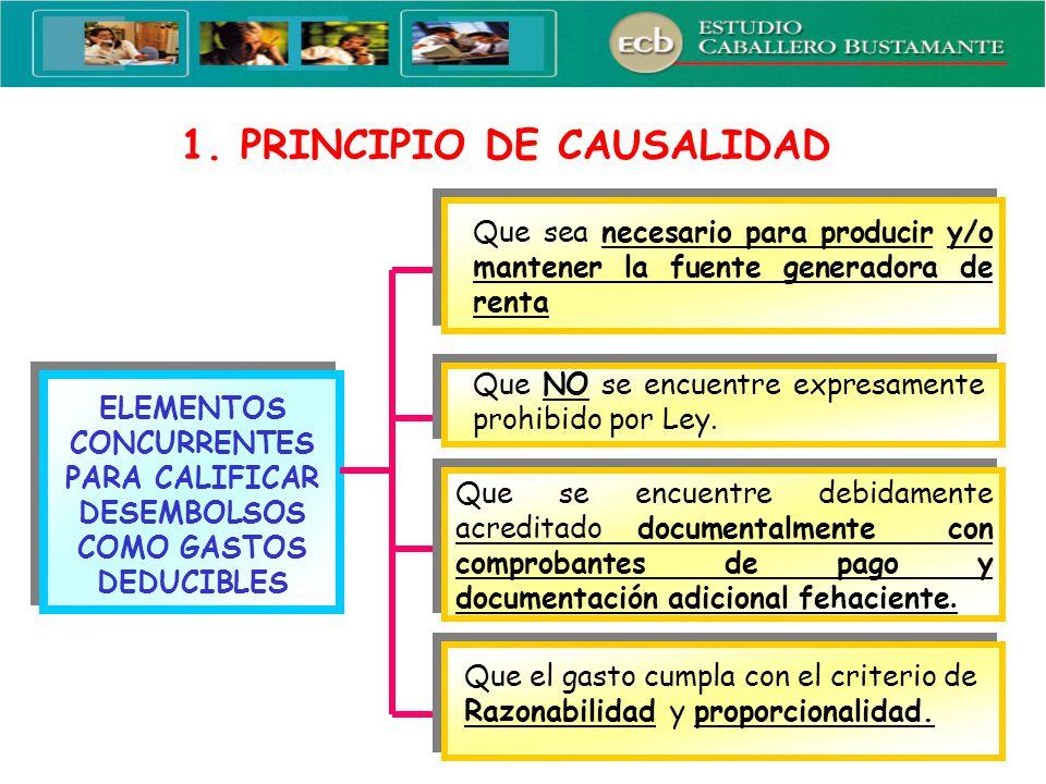 1. PRINCIPIO DE CAUSALIDAD
