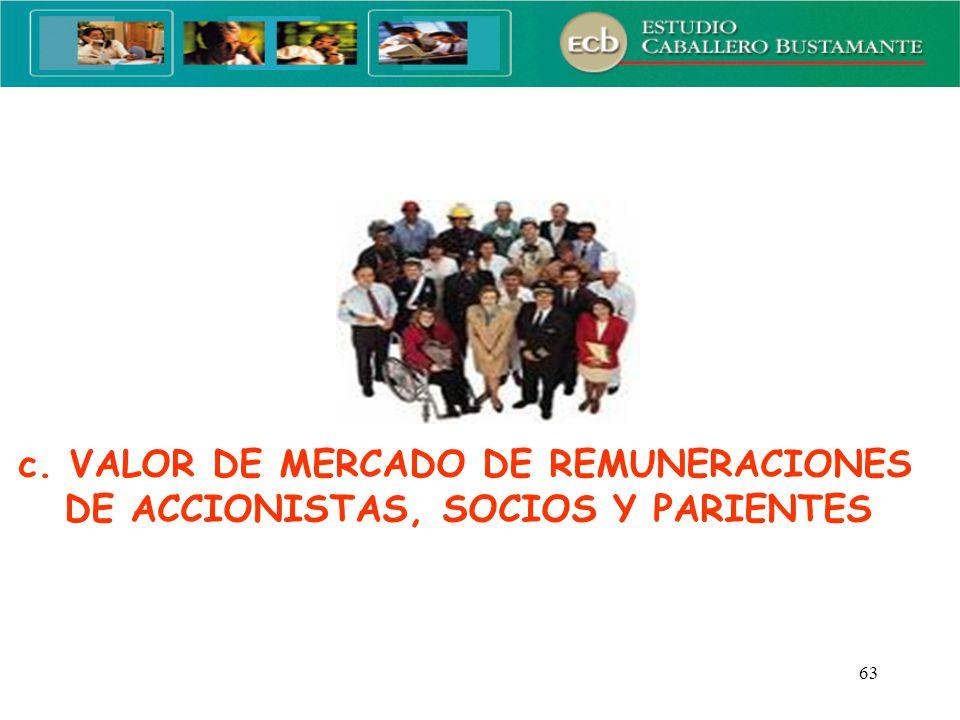 c. VALOR DE MERCADO DE REMUNERACIONES