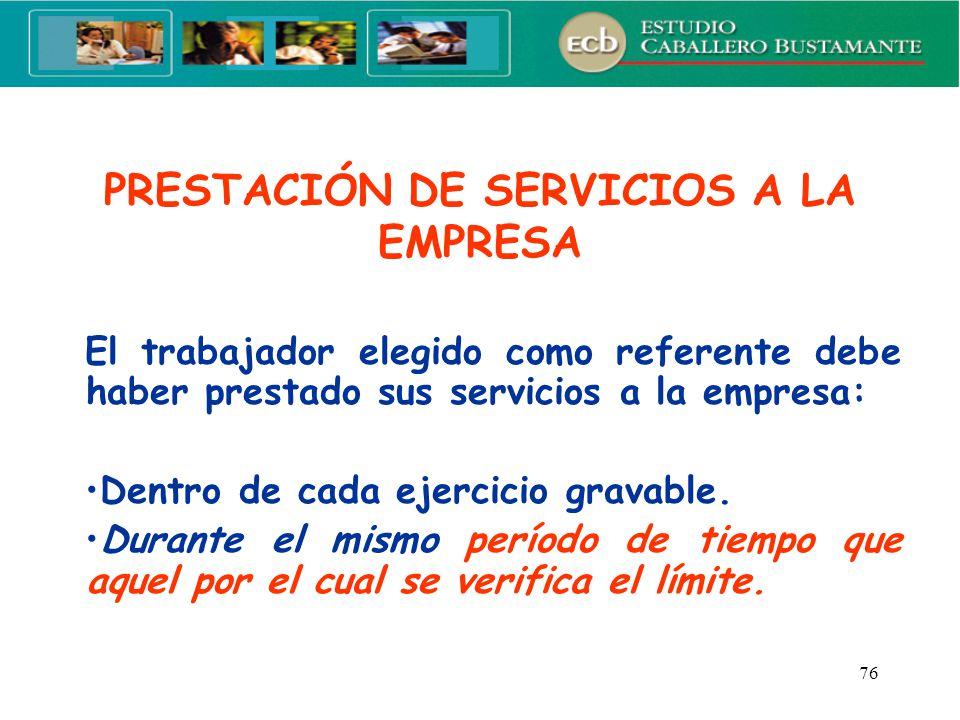 PRESTACIÓN DE SERVICIOS A LA EMPRESA
