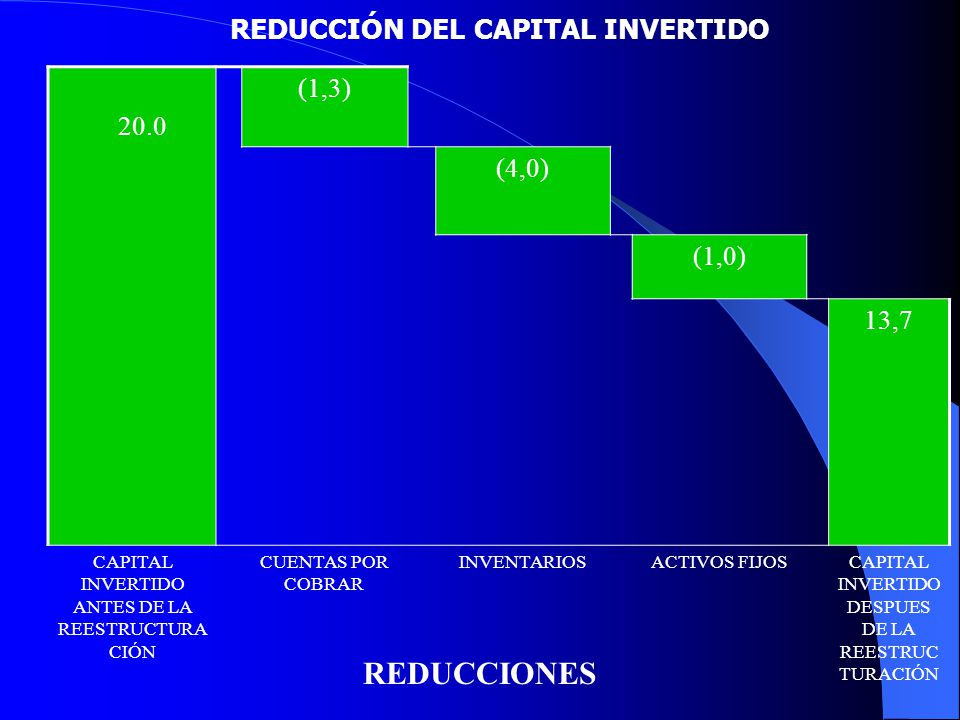 REDUCCIÓN DEL CAPITAL INVERTIDO