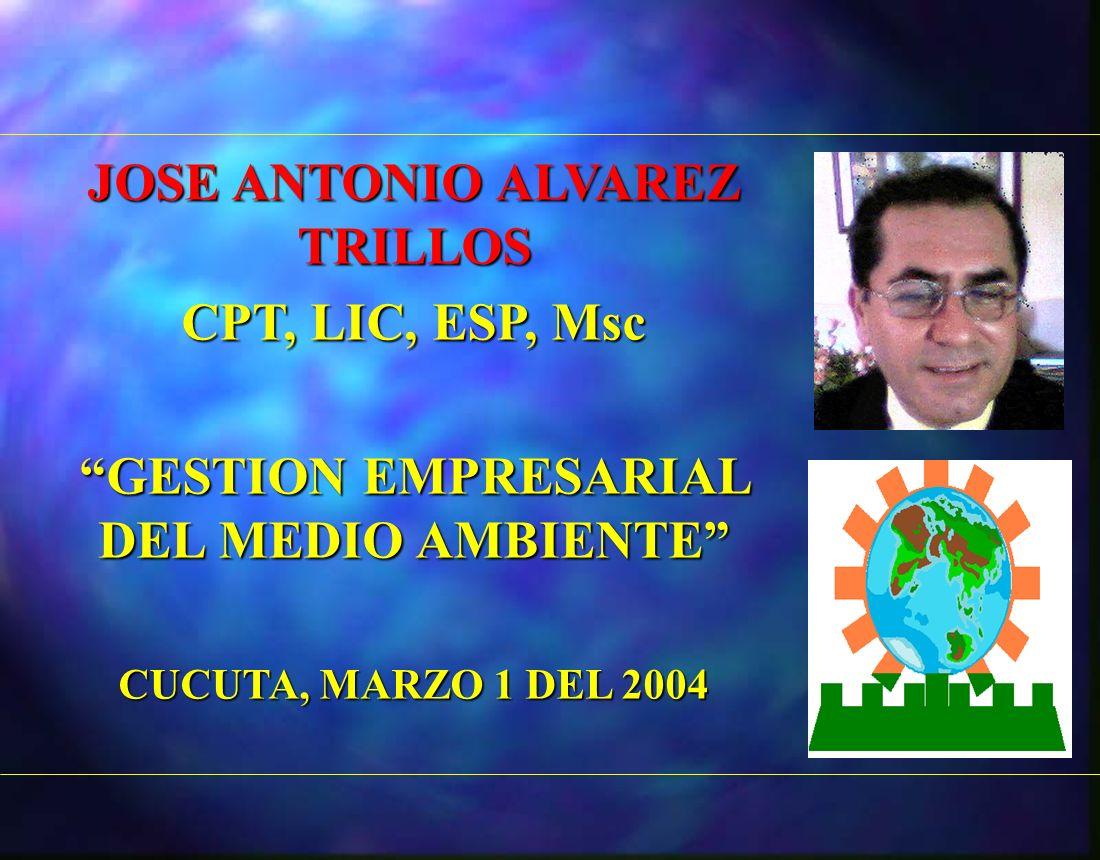 JOSE ANTONIO ALVAREZ TRILLOS GESTION EMPRESARIAL DEL MEDIO AMBIENTE