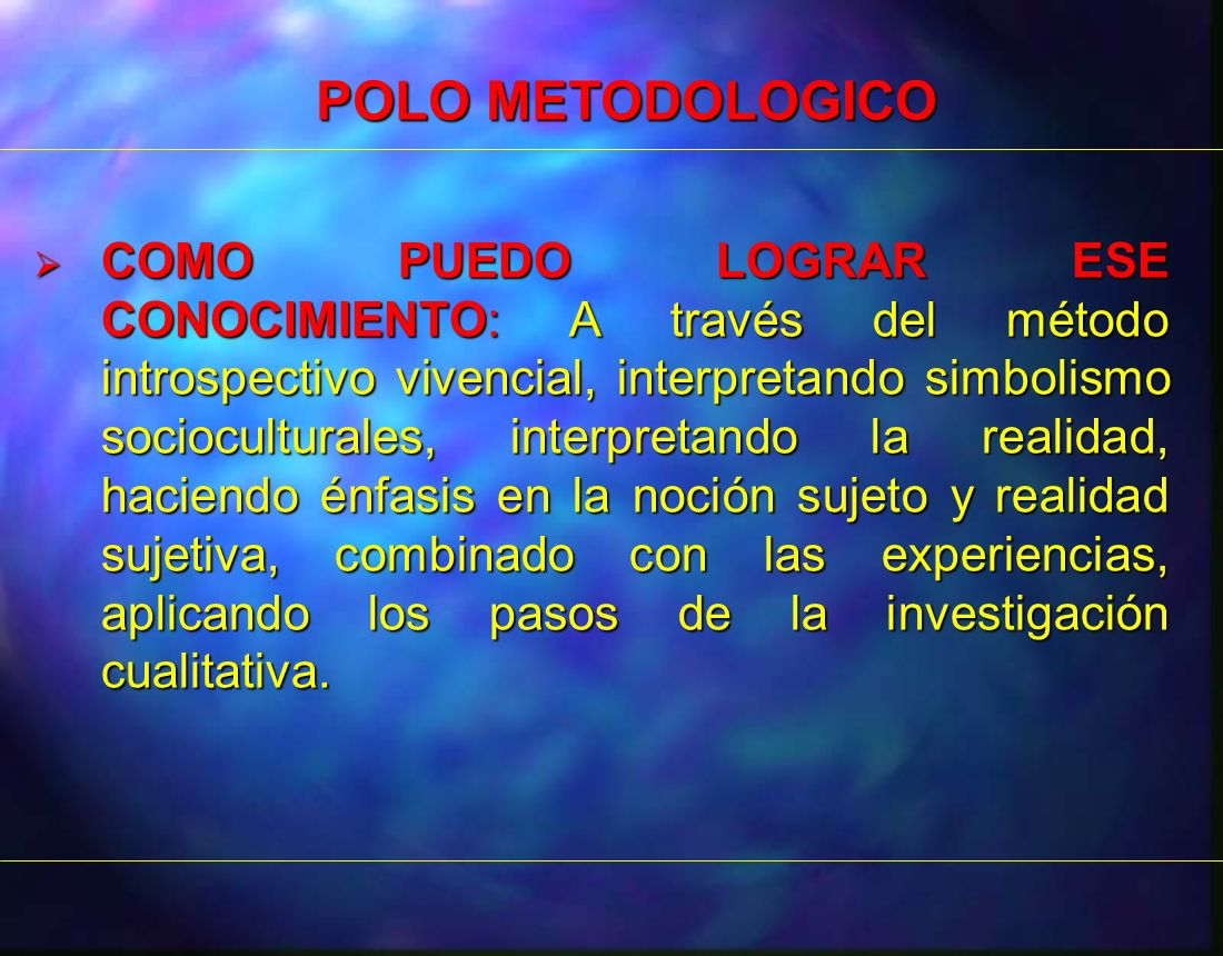 POLO METODOLOGICO