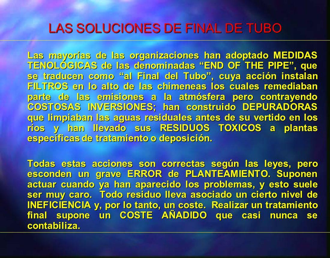 LAS SOLUCIONES DE FINAL DE TUBO