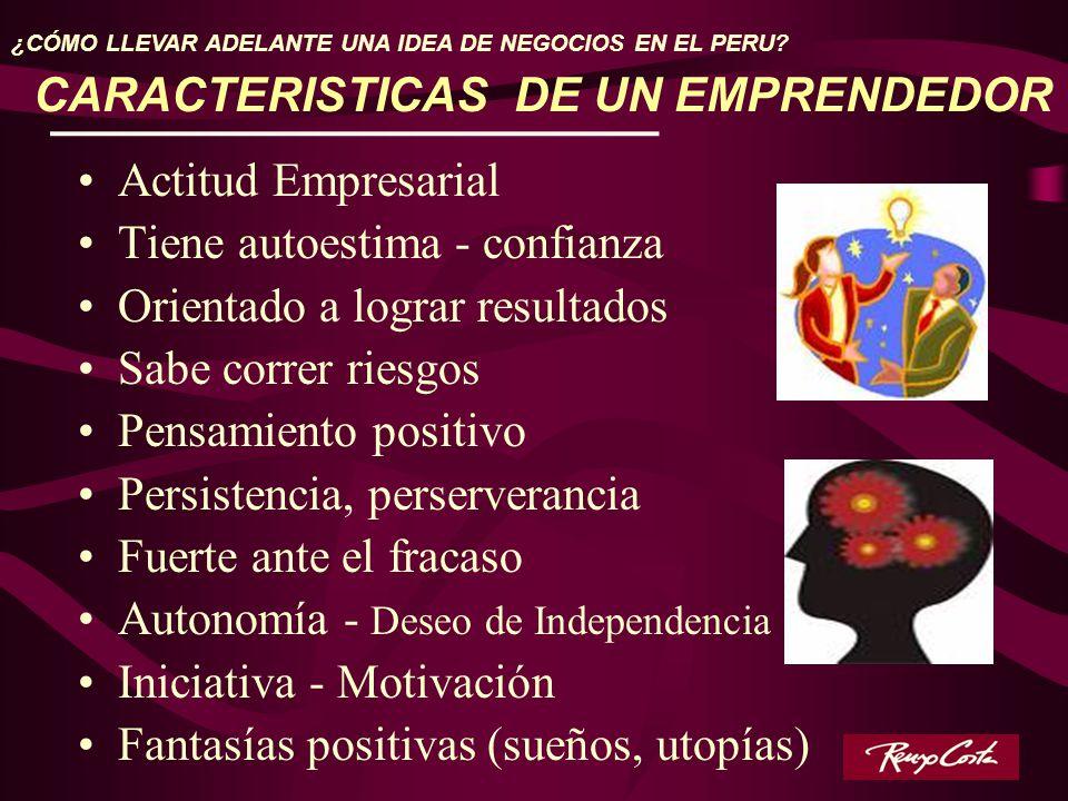 CARACTERISTICAS DE UN EMPRENDEDOR