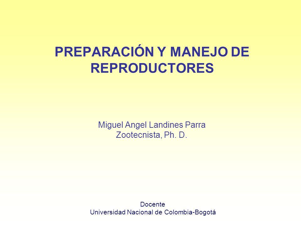 PREPARACIÓN Y MANEJO DE REPRODUCTORES