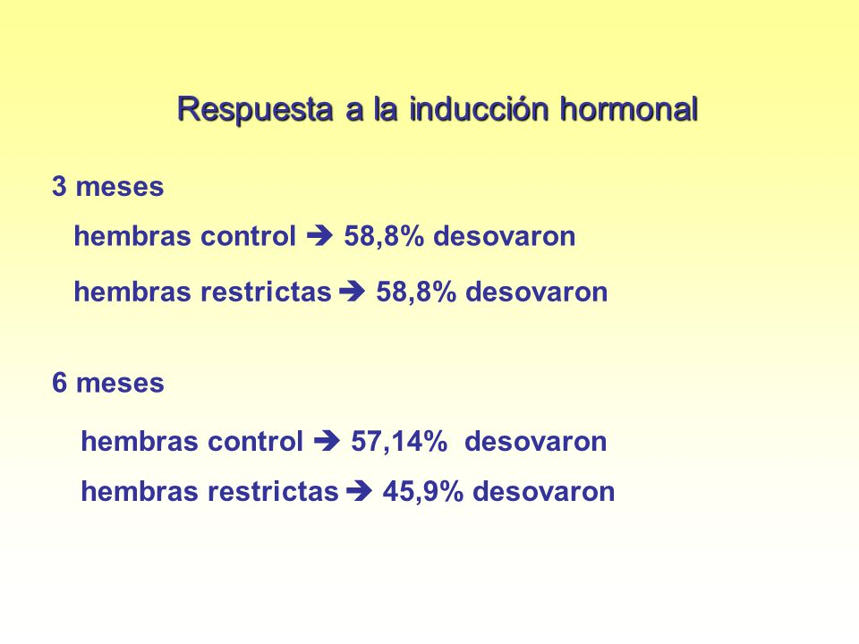 Respuesta a la inducción hormonal