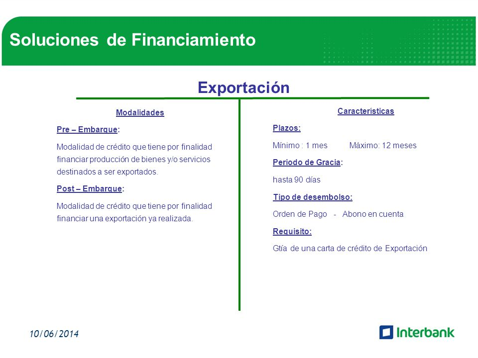 Soluciones de Financiamiento
