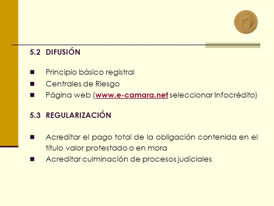 CASOS ESPECIALES DE REGULARIZACIÓN