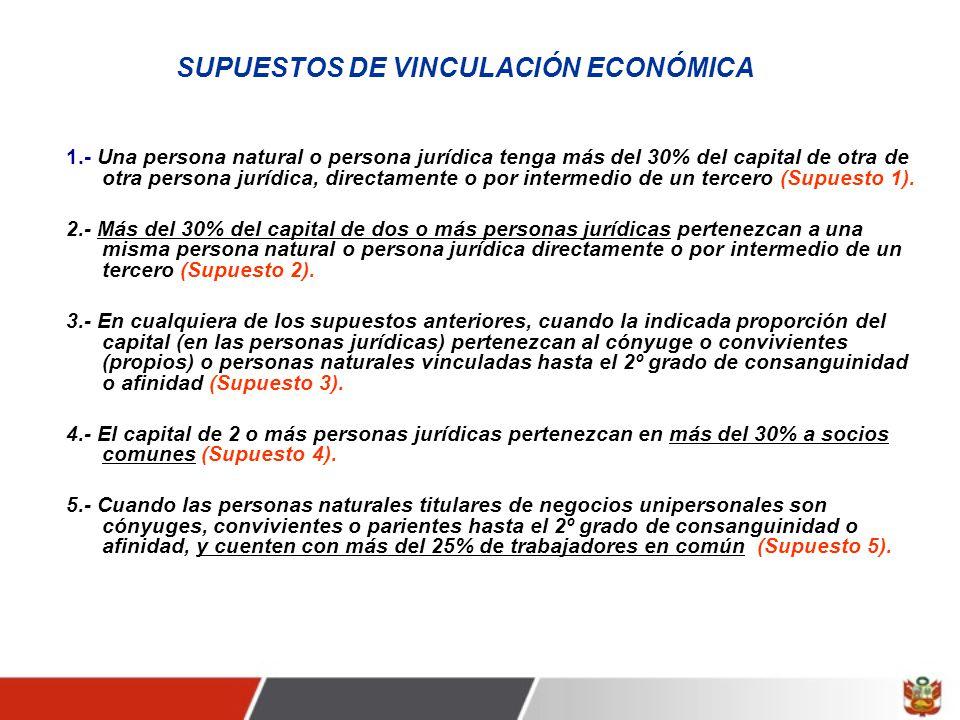 SUPUESTOS DE VINCULACIÓN ECONÓMICA