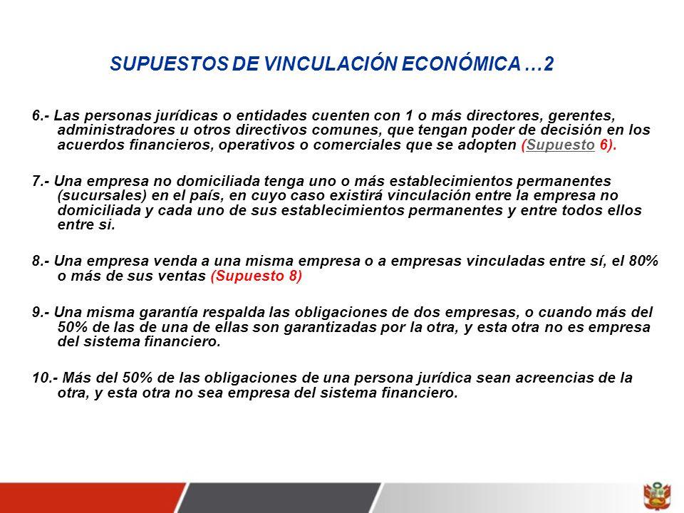 SUPUESTOS DE VINCULACIÓN ECONÓMICA …2