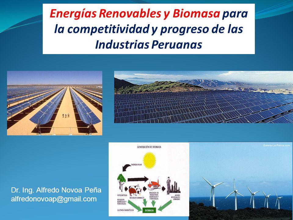 Energías Renovables y Biomasa para la competitividad y progreso de las Industrias Peruanas