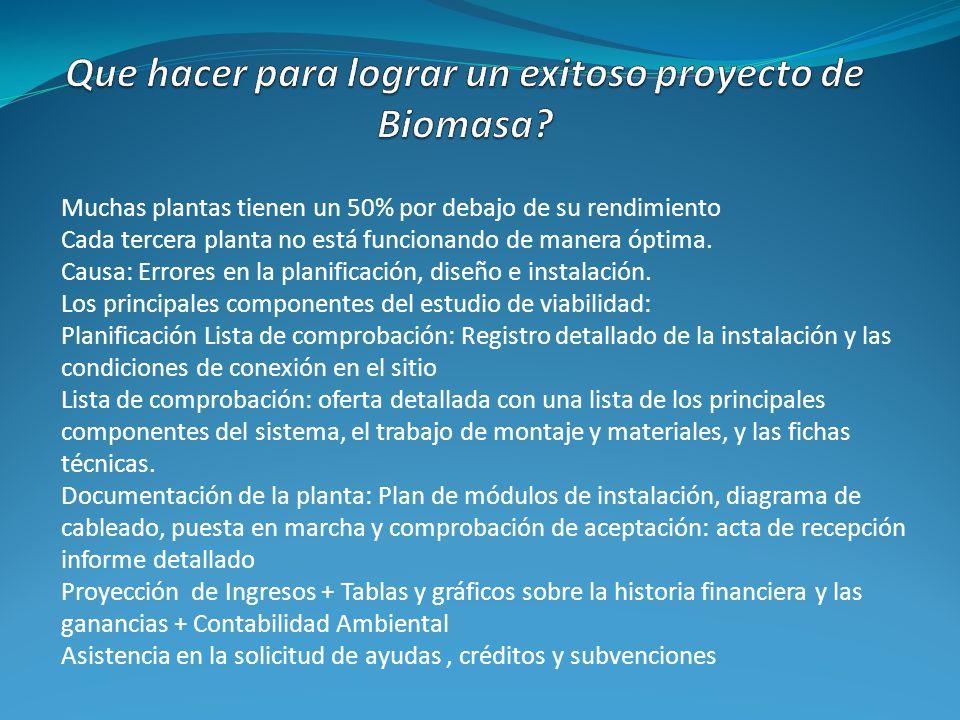 Que hacer para lograr un exitoso proyecto de Biomasa