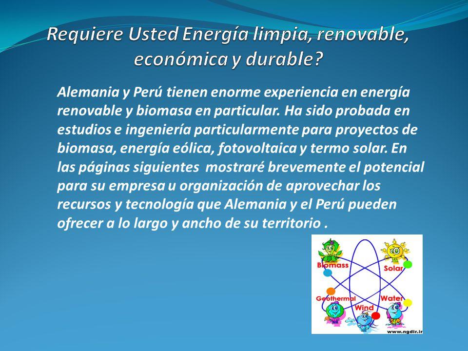 Requiere Usted Energía limpia, renovable, económica y durable