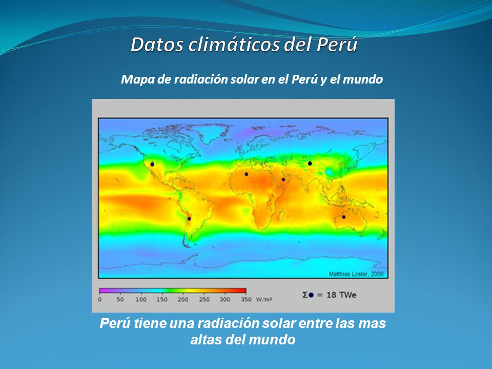 Datos climáticos del Perú