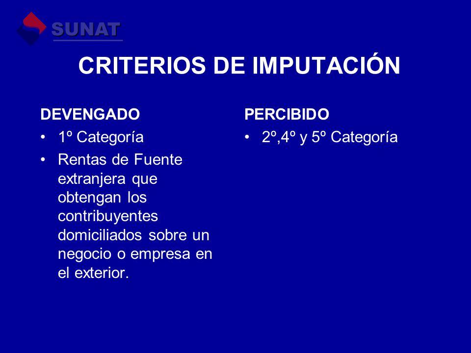 CRITERIOS DE IMPUTACIÓN