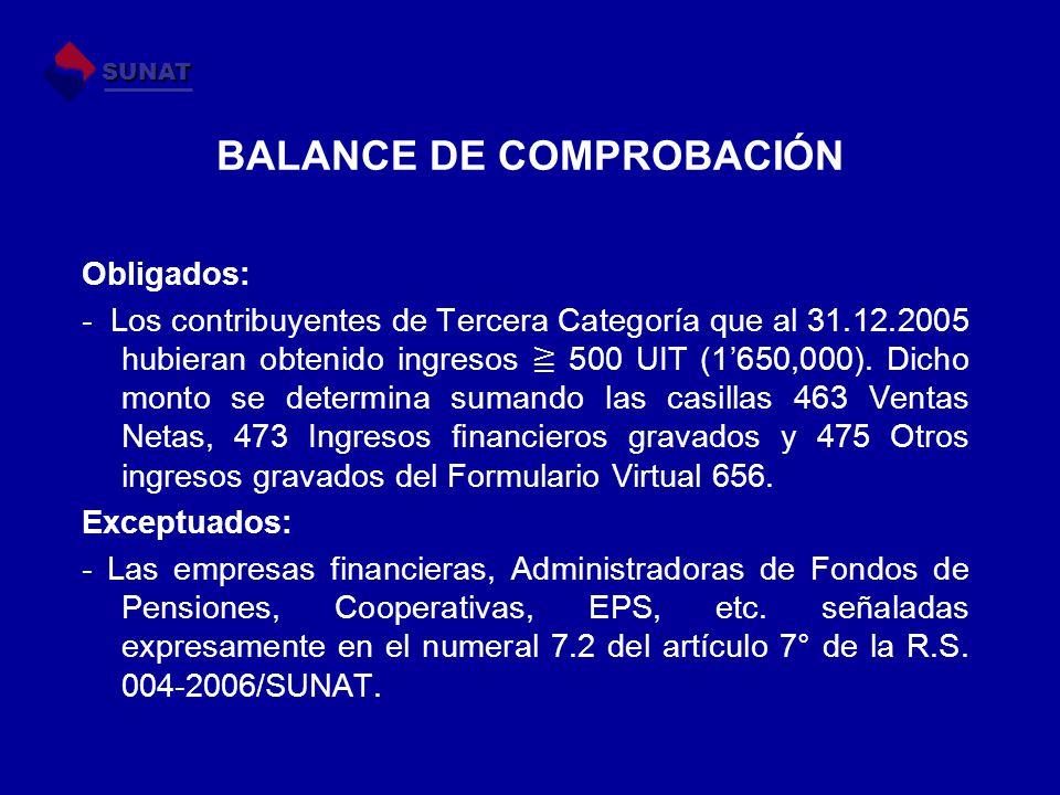 BALANCE DE COMPROBACIÓN