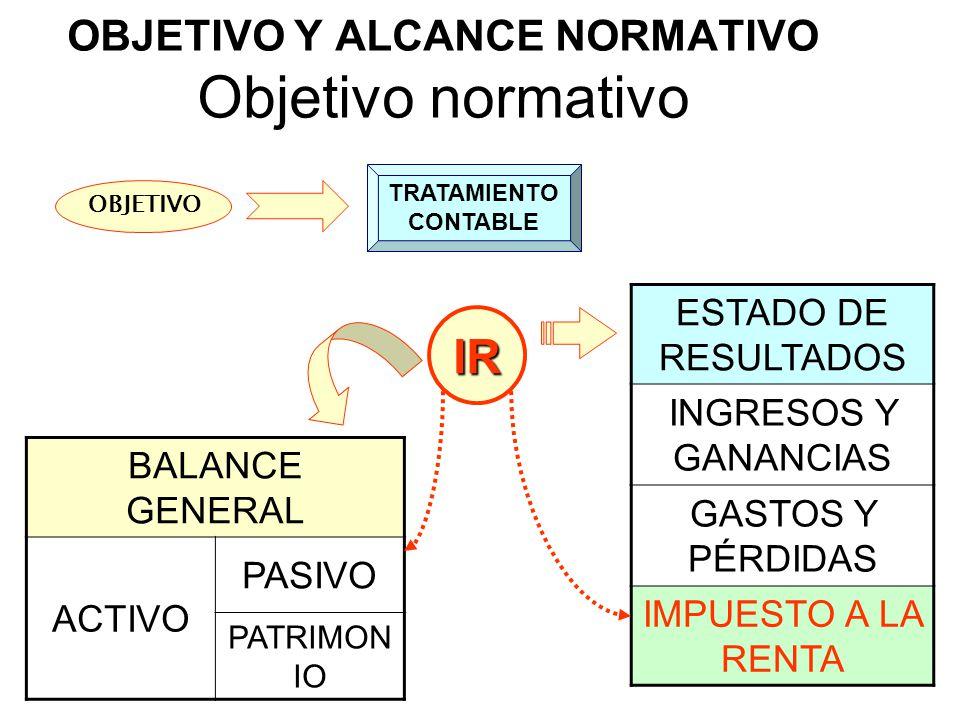 OBJETIVO Y ALCANCE NORMATIVO Objetivo normativo