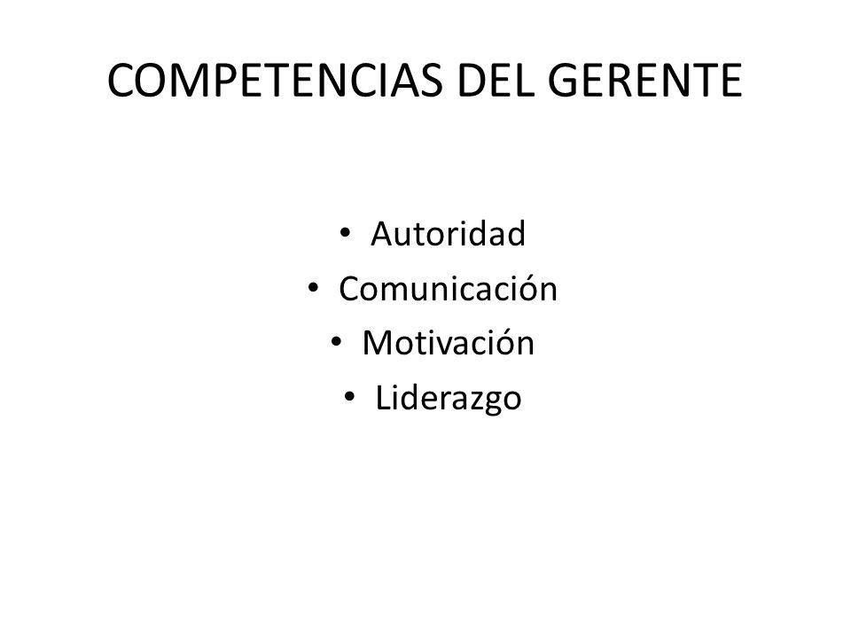COMPETENCIAS DEL GERENTE