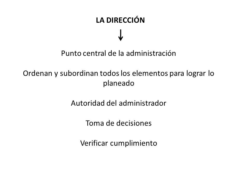 Punto central de la administración