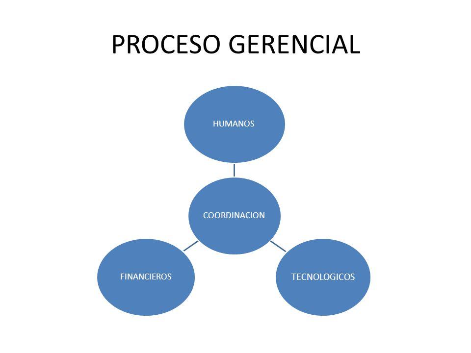 PROCESO GERENCIAL COORDINACION HUMANOS TECNOLOGICOS FINANCIEROS